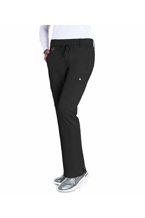 Grey's Anatomy Signature Scrub Pant 4 Way Stretch XXS / Black / 71%Polyester/24%Rayon/5%Spandex Grey's Anatomy Signature - Ladies Olivia Scrub Pant 2218 PETITE