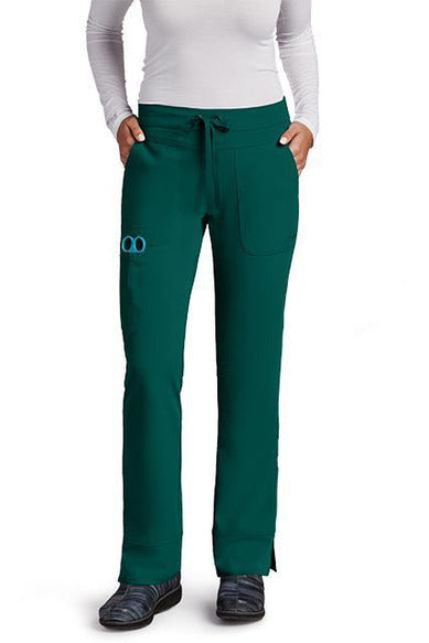 Grey's Anatomy Signature Scrub Pant 4 Way Stretch XXS / Hunter / 71% Polyester / 24% Rayon / 5% Spandex Grey's Anatomy Signature - Ladies Dental Scrub Pant 2207