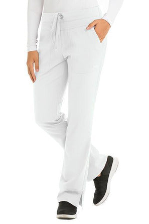Grey's Anatomy Signature Scrub Pant 4 Way Stretch XXS / White / 71% Polyester / 24% Rayon / 5% Spandex Grey's Anatomy Signature - Ladies Dental Scrub Pant 2207 Tall