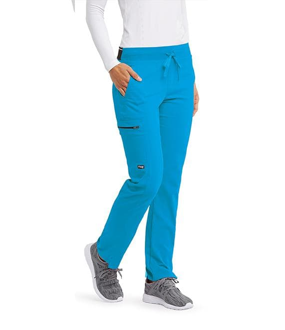 Grey's Anatomy + Stretch Scrub Pant XXSP / 2040 Blue Sky Ladies Kim Scrub Pant Petite
