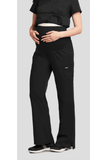 Grey's Anatomy - Ladies Nurse Maternity Scrub Pant 6202 Scrub Pant 2 Way Stretch Grey's Anatomy XS Black 77% Polyester / 23% Rayon