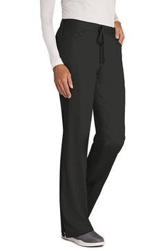 Grey's Anatomy Scrub Pant XXS / Black / 77% Polyester / 23% Rayon Grey's Anatomy - Ladies Nurse Scrub Pant 4232 PETITE