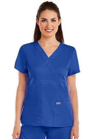 Grey's Anatomy Scrub Top 2 Way Stretch XXS / Galaxy / 77% Polyester / 23% Rayon Grey's Anatomy - Ladies Nurse Scrub Top 4153