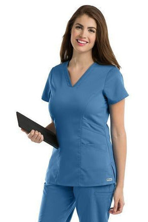 Grey's Anatomy - Women's Nurse Scrub Top 41452 Scrub Top 2 Way Stretch Grey's Anatomy