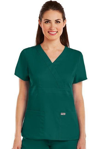 Grey's Anatomy Scrub Top 2 Way Stretch XXS / Hunter / 77% Polyester / 23% Rayon Grey's Anatomy - Ladies Nurse Scrub Top 4153