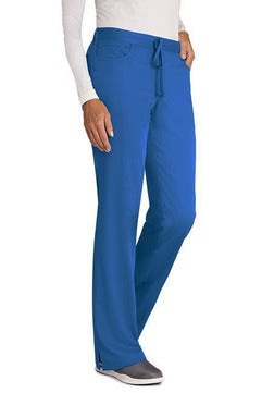 Grey's Anatomy Scrub Pant XXS / New Royal / 77% Polyester / 23% Rayon Grey's Anatomy - Ladies Nurse Scrub Pant 4232 PETITE