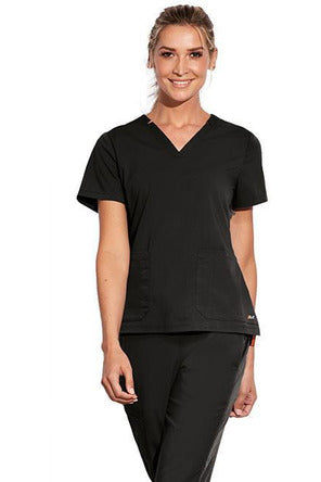 MOTION by BARCO Scrub Top 2XL / BLACK / 64% POLYESTER / 33% RAYON / 3% SPANDEX MOTION by BARCO - Ladies Claire Top MOT002 2XL-3XL