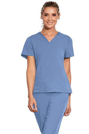 MOTION by BARCO Scrub Top 2XL / CIEL / 64% POLYESTER / 33% RAYON / 3% SPANDEX MOTION by BARCO - Ladies Claire Top MOT002 2XL-3XL