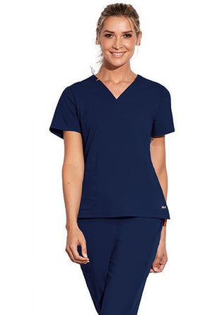 MOTION by BARCO Scrub Top M / NAVY / 64% POLYESTER / 33% RAYON / 3% SPANDEX MOTION by BARCO - Ladies Claire Top MOT002 2XL-3XL