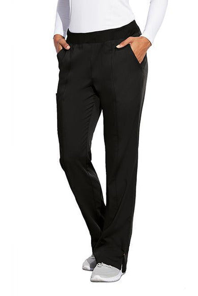 MOTION by BARCO Scrub Pant XS / BLACK / 64% POLYESTER / 33% RAYON / 3% SPANDEX MOTION by BARCO - Ladies Jill Pant MOP002 TALL