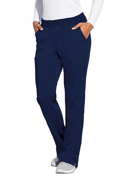MOTION by BARCO Scrub Pant XS / NAVY / 64% POLYESTER / 33% RAYON / 3% SPANDEX MOTION by BARCO - Ladies Claire Pant MOP001 TALL
