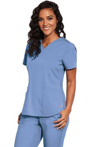 MOTION by BARCO Scrub Pant XXS / CIEL / 64% POLYESTER / 33% RAYON / 3% SPANDEX MOTION by BARCO - Ladies Jill Top MOT001
