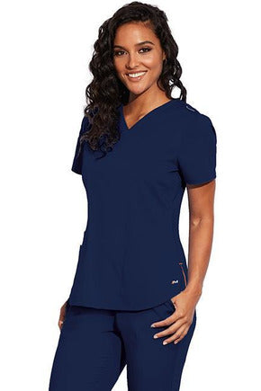 MOTION by BARCO Scrub Pant XXS / NAVY / 64% POLYESTER / 33% RAYON / 3% SPANDEX MOTION by BARCO - Ladies Jill Top MOT001