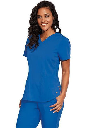 MOTION by BARCO Scrub Pant XXS / NEW ROYAL / 64% POLYESTER / 33% RAYON / 3% SPANDEX MOTION by BARCO - Ladies Jill Top MOT001