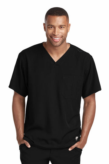 Men's Structure Scrub Top 2XL-5XL | Express Dispatch