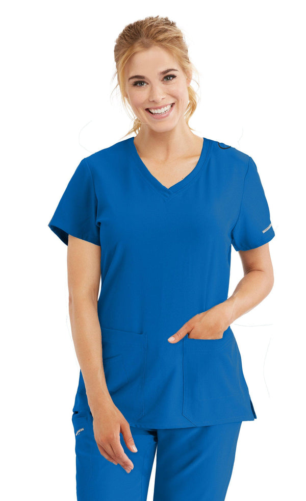Skechers by BARCO Scrub Top 2XL / 08 New Royal Ladies Focus Scrub Top 2XL-5XL