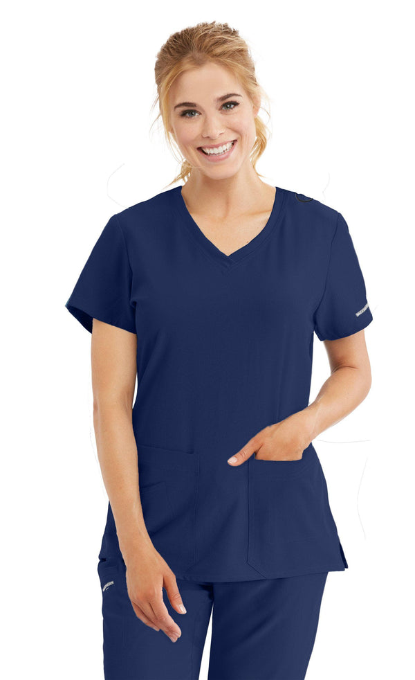 Skechers by BARCO Scrub Top 2XL / 41 Navy Ladies Focus Scrub Top 2XL-5XL