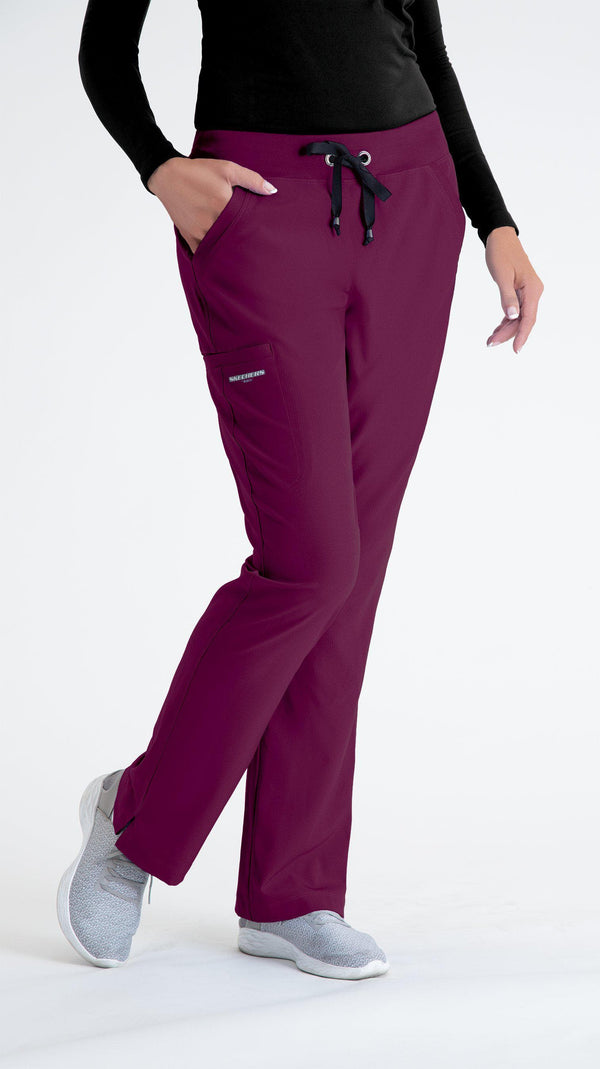 Skechers by BARCO Scrub Pant 2XL / 65 Wine Ladies Focus Scrub Pant 2XL-5XL