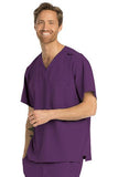 Skechers by BARCO Scrub Top 2XL / Eggplant / 54% Polyester / 40% Recycles Polyester / 6% Spandex SKECHERS by Barco - Men's Structure Scrub Top SK0112 2XL-5XL