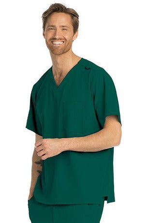 Skechers by BARCO Scrub Top 2XL / Hunter / 54% Polyester / 40% Recycles Polyester / 6% Spandex SKECHERS by Barco - Men's Structure Scrub Top SK0112 2XL-5XL