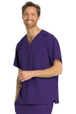 Skechers by BARCO Scrub Top 2XL / New Grape / 54% Polyester / 40% Recycles Polyester / 6% Spandex SKECHERS by Barco - Men's Structure Scrub Top SK0112 2XL-5XL
