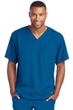 Skechers by BARCO Scrub Top 2XL / New Royal / 54% Polyester / 40% Recycles Polyester / 6% Spandex SKECHERS by Barco - Men's Structure Scrub Top SK0112 2XL-5XL
