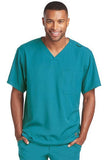 Skechers by BARCO Scrub Top 2XL / Teal / 54% Polyester / 40% Recycles Polyester / 6% Spandex SKECHERS by Barco - Men's Structure Scrub Top SK0112 2XL-5XL