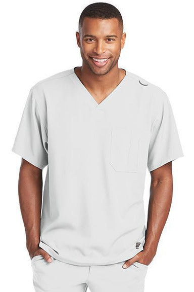 Skechers by BARCO Scrub Top 2XL / White / 54% Polyester / 40% Recycles Polyester / 6% Spandex SKECHERS by Barco - Men's Structure Scrub Top SK0112 2XL-5XL