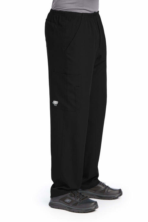 Skechers by BARCO Scrub Pant XS / Black / 54% Polyester / 40% Recycled Polyester / 6% Spandex SKECHERS by Barco | Men's Structure Scrub Pant SK0215.ND