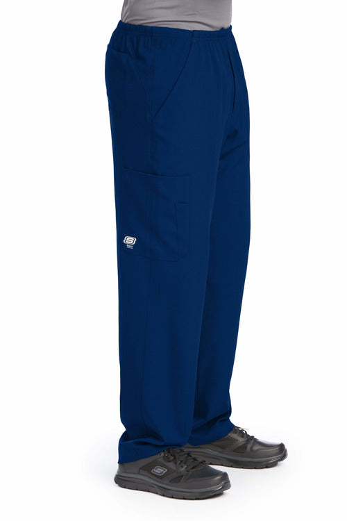 Skechers by BARCO Scrub Pant XS / Navy / 54% Polyester / 40% Recycled Polyester / 6% Spandex SKECHERS by Barco | Men's Structure Scrub Pant SK0215.ND