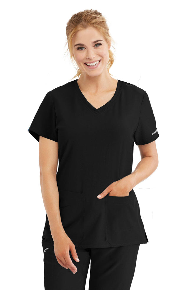 Skechers by BARCO Scrub Top XXS / 01 Black Ladies Focus Scrub Top