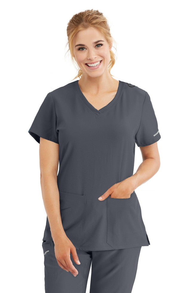 Skechers by BARCO Scrub Top XXS / 18 Pewter Ladies Focus Scrub Top