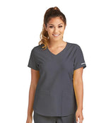 Skechers by BARCO Scrub Top XXS / 18 Pewter Ladies Vitality Scrub Top | Express Dispatch