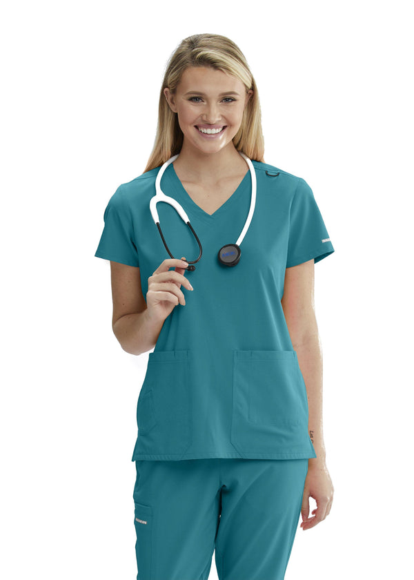 Skechers by BARCO Scrub Top XXS / 39 Teal Ladies Focus Scrub Top