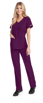 Skechers by BARCO Scrub Top XXS / 65 Wine Ladies Vitality Scrub Top | Express Dispatch