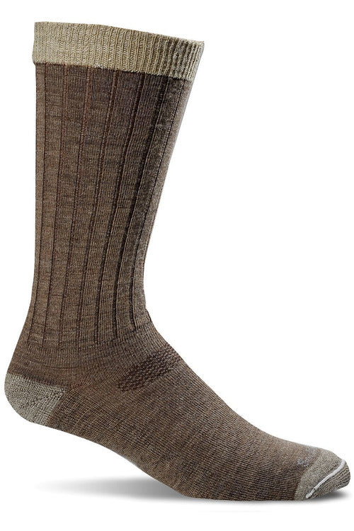 Sockwell M/L / Bark / MerinoWool/Rayon/Nylon/Spandex Men's Easy Does It | Relaxed Fit Socks SW2M