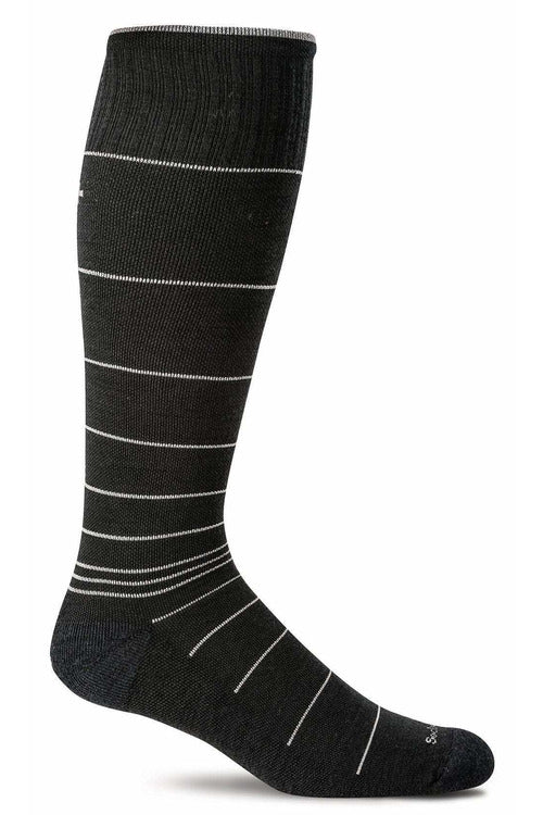 Men's Circulator | Graduated Compression Moderate 15-20 mmHg SW1M Therapeutic Compression Socks Sockwell M/L Black Stripe MERINO WOOL/BAMBOO/NYLON/SPANDEX