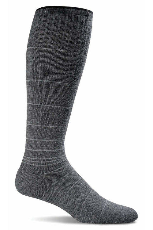 Men's Circulator | Graduated Compression Moderate 15-20 mmHg SW1M Therapeutic Compression Socks Sockwell M/L Charcoal MERINO WOOL/BAMBOO/NYLON/SPANDEX