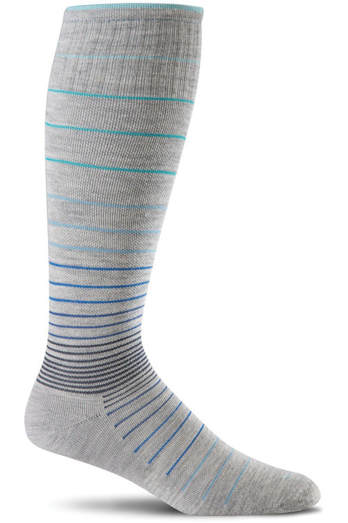 Sockwell Therapeutic Compression Socks M/L / Grey / MERINO WOOL/BAMBOO/NYLON/SPANDEX Ladies Circulator | Graduated Compression Moderate 15-20mmHg SW1W