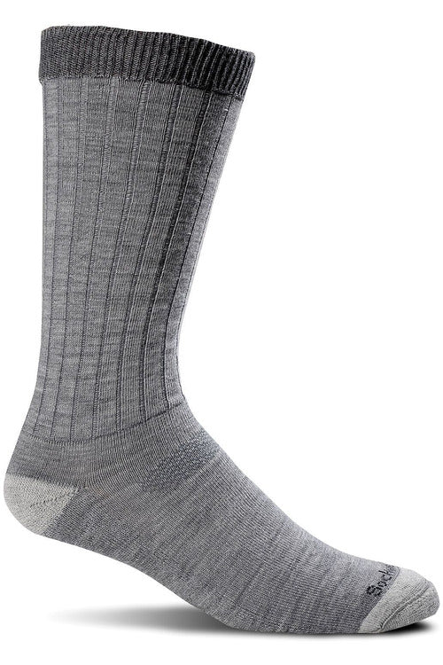 Sockwell M/L / Grey / MerinoWool/Rayon/Nylon/Spandex Men's Easy Does It | Relaxed Fit Socks SW2M