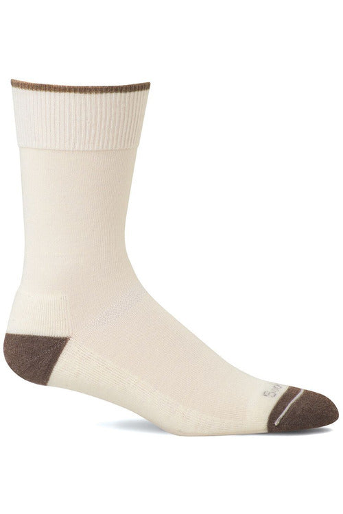 Sockwell M/L / Natural / MerinoWool/Rayon/Nylon/Spandex Ladies Easy Does It | Relaxed Fit Socks SW2W