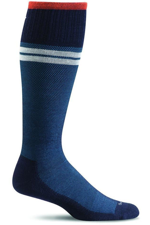 Men's Sportster | Graduated Compression Moderate 15-20 mmHg SW19M Therapeutic Compression Socks Sockwell M/L Navy MERINO WOOL/BAMBOO/NYLON/SPANDEX