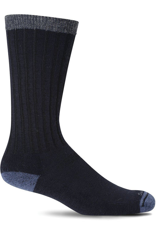 Sockwell M/L / Navy / MerinoWool/Rayon/Nylon/Spandex Men's Easy Does It | Relaxed Fit Socks SW2M
