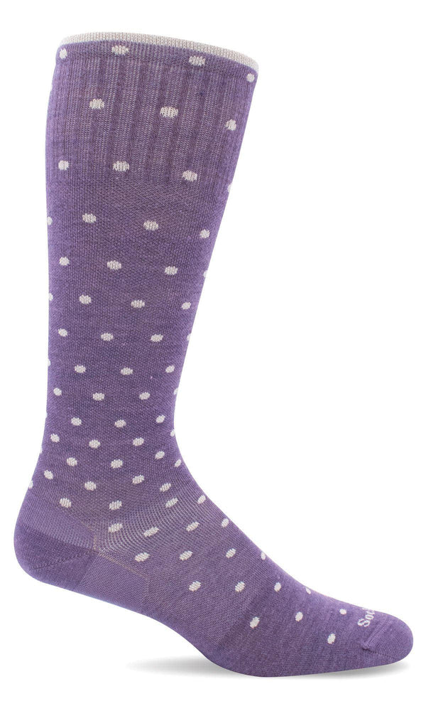 Sockwell Therapeutic Compression Socks M/L / Plum Sparkle 351 Ladies On The Spot Graduated Compression Moderate 15-20 mmHg  | Express Dispatch