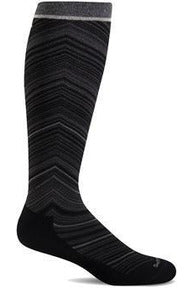 Women's Full Flattery | Graduated Compression Moderate 15-20 mmHg SW57W Therapeutic Compression Socks Sockwell S/M Black MERINO WOOL/BAMBOO/NYLON/SPANDEX