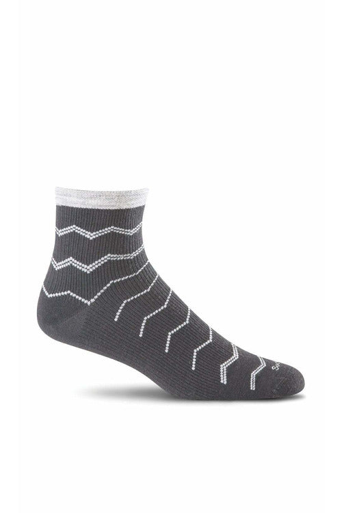 Women's Plantar Ease Quarter | Graduated Compression Firm Compression SW14W Therapeutic Compression Socks Sockwell S/M Black Merino Wool/Bamboo/Nylon/Spandex