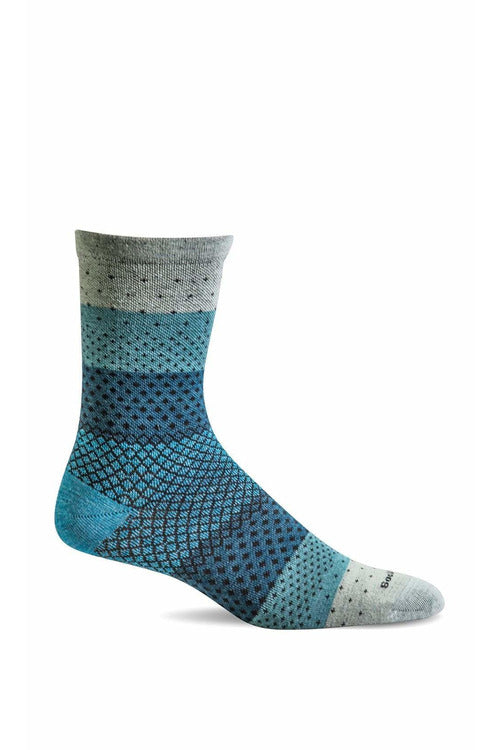 Sockwell Seasonal Socks S/M / Celadon / MERINO WOOL/BAMBOO/NYLON/SPANDEX Women's Plantar Ease Crew | Graduated Compression 15-20mmHg SW72W