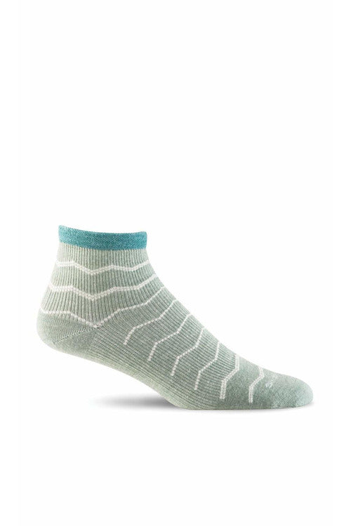 Women's Plantar Ease Quarter | Graduated Compression Firm Compression SW14W Therapeutic Compression Socks Sockwell S/M Celadon Merino Wool/Bamboo/Nylon/Spandex
