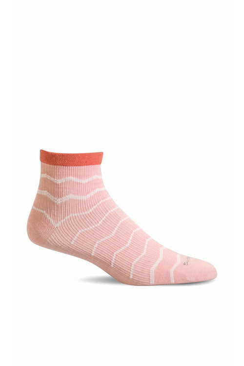 Women's Plantar Ease Quarter | Graduated Compression Firm Compression SW14W Therapeutic Compression Socks Sockwell S/M Rose Merino Wool/Bamboo/Nylon/Spandex