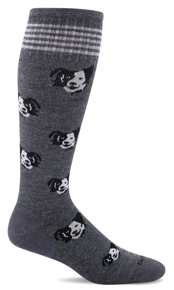 Sockwell Graduated Compression Sock S/M / Charcoal 850 Women's Canine Cuddle | Moderate Graduated Compression Socks